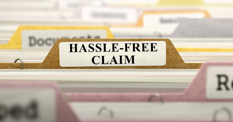 Hassle-free-claim